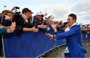 30 September 2018; Justin Rose of Europe celebrates with supporters after winning the Ryder Cup following the Ryder Cup 2018 Matches at Le Golf National in Paris, France. Photo by Ramsey Cardy/Sportsfile