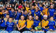 30 September 2018; Attendees from Ratoath GAA, Co. Meath, ahead of the Official Guinness World Record Attempt for World's Largest Hurling Lesson at Croke Park in Dublin. The attempt, which saw 1,772 participants take to the field was made to celebrate 20 Years of the GAA Museum.  Photo by Sam Barnes/Sportsfile