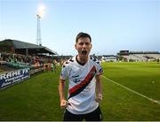 30 September 2018; Dinny Corcoran of Bohemians celebrates after scoring his side's goal during the Irish Daily Mail FAI Cup Semi-Final match between Bohemians and Cork City at Dalymount Park in Dublin. Photo by Stephen McCarthy/Sportsfile