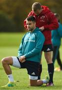 1 October 2018; Keith Earls with team-mate Conor Murray prior to Munster Rugby squad training at the University of Limerick in Limerick. Photo by Diarmuid Greene/Sportsfile