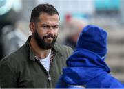 1 October 2018; Ireland defence coach Andy Farrell, left, speaks with Seán O'Brien during Leinster Rugby squad training at Energia Park in Dublin. Photo by David Fitzgerald/Sportsfile