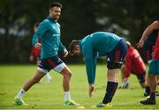 1 October 2018; Conor Murray with Peter O'Mahony during Munster Rugby squad training at the University of Limerick in Limerick. Photo by Diarmuid Greene/Sportsfile