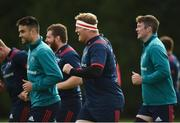 1 October 2018; Conor Murray, Stephen Archer, and Peter O'Mahony  during Munster Rugby squad training at the University of Limerick in Limerick. Photo by Diarmuid Greene/Sportsfile
