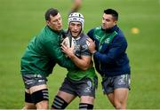 2 October 2018; James Connolly, centre, Robin Copeland, left, and Cian Kelleher during Connacht Rugby squad training at the Sportsground in Galway. Photo by Harry Murphy/Sportsfile