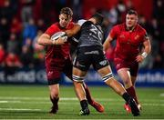 14 September 2018; Darren Sweetnam of Munster is tackled by Guido Volpi of Ospreys during the Guinness PRO14 Round 3 match between Munster and Ospreys at Irish Independent Park in Cork. Photo by Brendan Moran/Sportsfile