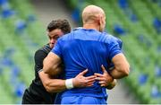 5 October 2018; James Ryan during the Leinster Rugby captains run at the Aviva Stadium in Dublin. Photo by Ramsey Cardy/Sportsfile