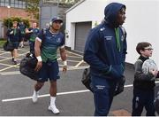 5 October 2018; Bundee Aki of Connacht arrives prior to the Guinness PRO14 Round 6 match between Ulster and Connacht at Kingspan Stadium, in Belfast. Photo by Oliver McVeigh/Sportsfile