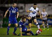 5 October 2018; Michael Duffy of Dundalk in action against Jamie Lennon of St Patrick's Athletic during the SSE Airtricity League Premier Division match between Dundalk and St Patrick's Athletic at Oriel Park in Dundalk, Co Louth. Photo by Seb Daly/Sportsfile