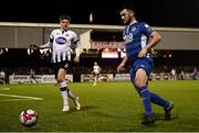5 October 2018; Ryan Brennan of St Patrick's Athletic in action against Sean Gannon of Dundalk during the SSE Airtricity League Premier Division match between Dundalk and St Patrick's Athletic at Oriel Park, Dundalk, in Louth. Photo by David Fitzgerald/Sportsfile