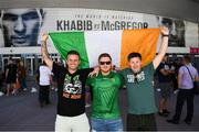 5 October 2018; Conor McGregor supporters, from left, Jason Smith, Gavin O'Neill and Andy Fitz, prior to the upcoming UFC 229 event featuring Khabib Nurmagomedov and Conor McGregor in Las Vegas, Nevada, United States. Photo by Stephen McCarthy/Sportsfile