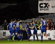 5 October 2018; Conor Clifford of St Patrick's Athletic, centre, celebrates with team-mates after scoring his side's first goal during the SSE Airtricity League Premier Division match between Dundalk and St Patrick's Athletic at Oriel Park in Dundalk, Co Louth. Photo by Seb Daly/Sportsfile
