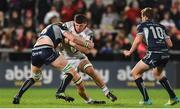 5 October 2018; Nick Timoney of Ulster is tackled by Sean O'Brien of Connacht during the Guinness PRO14 Round 6 match between Ulster and Connacht at Kingspan Stadium, in Belfast. Photo by Oliver McVeigh/Sportsfile