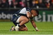 5 October 2018; An injured Bundee Aki of Connacht during the Guinness PRO14 Round 6 match between Ulster and Connacht at Kingspan Stadium, in Belfast. Photo by Oliver McVeigh/Sportsfile