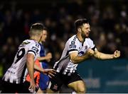 5 October 2018; Patrick Hoban of Dundalk, right, celebrates after scoring his side's first goal during the SSE Airtricity League Premier Division match between Dundalk and St Patrick's Athletic at Oriel Park in Dundalk, Co Louth. Photo by Seb Daly/Sportsfile