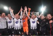 5 October 2018; Dundalk players celebrate winning the league following the SSE Airtricity League Premier Division match between Dundalk and St Patrick's Athletic at Oriel Park, Dundalk, in Louth. Photo by David Fitzgerald/Sportsfile