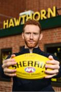 13 June 2018; Hawthorn AFL player Conor Glass pictured at the old spiritual home of Hawthorn AFL team at Glenferrie Oval in Hawthorn, Victoria in Australia. Photo by Brendan Moran/Sportsfile