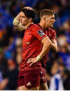 6 October 2018; Joey Carbery of Munster is consoled by Dan Goggin, right, at the final whistle of the Guinness PRO14 Round 6 match between Leinster and Munster at the Aviva Stadium in Dublin. Photo by Ramsey Cardy/Sportsfile