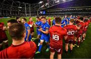 6 October 2018; Josh van der Flier of Leinster following the Guinness PRO14 Round 6 match between Leinster and Munster at the Aviva Stadium in Dublin. Photo by Ramsey Cardy/Sportsfile