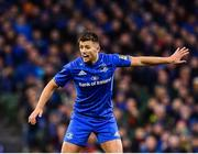 6 October 2018; Ross Byrne of Leinster during the Guinness PRO14 Round 6 match between Leinster and Munster at the Aviva Stadium in Dublin. Photo by Seb Daly/Sportsfile