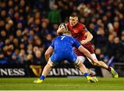 6 October 2018; Andrew Conway of Munster in action against Dan Leavy of Leinster during the Guinness PRO14 Round 6 match between Leinster and Munster at the Aviva Stadium in Dublin. Photo by Seb Daly/Sportsfile