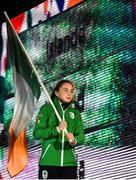 6 October 2018; Team Ireland flagbearer Emma Slevin of Team Ireland, from Renmore, Galway, during the opening ceremony of the Youth Olympic Games in Buenos Aires, Argentina. Photo by Eóin Noonan/Sportsfile