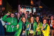 6 October 2018; Team Ireland athletes during the opening ceremony of the Youth Olympic Games in Buenos Aires, Argentina. Photo by Eóin Noonan/Sportsfile