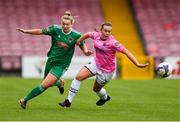 7 October 2018; Saoirse Noonan of Cork City FC in action against Orlaith Conlon of Wexford Youths WFC during the Continental Tyres Women's National League Development Shield Final match between Cork City FC and Wexford Youths WFC at Turner's Cross in Cork. Photo by Seb Daly/Sportsfile