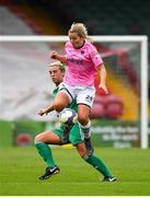 7 October 2018; Katrina Parrock of Wexford Youths WFC in action against Savannah McCarthy of Cork City FC during the Continental Tyres Women's National League Development Shield Final match between Cork City FC and Wexford Youths WFC at Turner's Cross in Cork. Photo by Seb Daly/Sportsfile