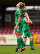 7 October 2018; Saoirse Noonan of Cork City FC reacts after missing a chance during the Continental Tyres Women's National League Development Shield Final match between Cork City FC and Wexford Youths WFC at Turner's Cross in Cork. Photo by Seb Daly/Sportsfile