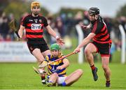 7 October 2018; Sean O'Hare of Abbeyside in action against Brian O'Sullivan and Wayne Hutchinson,6, of Ballygunner during the Waterford County Senior Club Hurling Championship Final match between Abbeyside and Ballygunner at Fraher Field in Dungarvan, Co Waterford. Photo by Matt Browne/Sportsfile