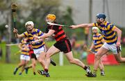 7 October 2018; Wayne Hutchinson of Ballygunner in action against Conor Prunty and Sean Whelan Barrett of Abbeyside during the Waterford County Senior Club Hurling Championship Final match between Abbeyside and Ballygunner at Fraher Field in Dungarvan, Co Waterford. Photo by Matt Browne/Sportsfile