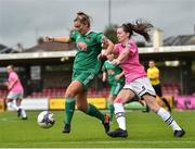 7 October 2018; Saoirse Noonan of Cork City FC in action against Lauren Dwyer of Wexford Youths WFC during the Continental Tyres Women's National League Development Shield Final match between Cork City FC and Wexford Youths WFC at Turner's Cross in Cork. Photo by Seb Daly/Sportsfile