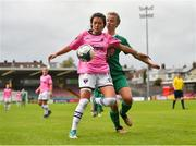 7 October 2018; McKenna Davidson of Wexford Youths WFC in action against Christina Dring of Cork City FC during the Continental Tyres Women's National League Development Shield Final match between Cork City FC and Wexford Youths WFC at Turner's Cross in Cork. Photo by Seb Daly/Sportsfile