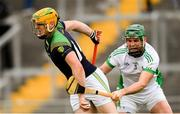 7 October 2018; Cillian Kiely of Kilcormac/Killoughey in action against Trevor Corcorcan of Coolderry during the Offaly County Senior Club Hurling Championship Final match between Coolderry and Kilcormac/Killoughey at Bord Na Móna O'Connor Park in Tullamore, Co Offaly. Photo by Piaras Ó Mídheach/Sportsfile
