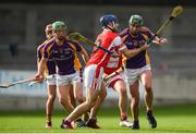 7 October 2018; Seán McGrath of Kilmacud Crokes in action against Seán Treacy of Cuala during the Dublin County Senior Club Hurling Championship semi-final match between Kilmacud Crokes and Cuala at Parnell Park in Dublin. Photo by Daire Brennan/Sportsfile