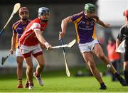 7 October 2018; Seán McGrath of Kilmacud Crokes in action against Seán Moran of Cuala during the Dublin County Senior Club Hurling Championship semi-final match between Kilmacud Crokes and Cuala at Parnell Park in Dublin. Photo by Daire Brennan/Sportsfile
