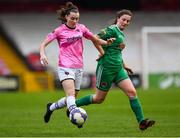 7 October 2018; Lauren Dwyer of Wexford Youths WFC in action against Hannah O'Donoghue of Cork City FC during the Continental Tyres Women's National League Development Shield Final match between Cork City FC and Wexford Youths WFC at Turner's Cross in Cork. Photo by Seb Daly/Sportsfile