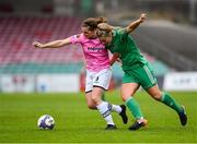 7 October 2018; Edel Kennedy of Wexford Youths WFC in action against Saoirse Noonan of Cork City FC during the Continental Tyres Women's National League Development Shield Final match between Cork City FC and Wexford Youths WFC at Turner's Cross in Cork. Photo by Seb Daly/Sportsfile