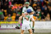 7 October 2018; Coolderry captain Kevin Connolly, behind, celebrates with team mate Brian Carroll after the Offaly County Senior Club Hurling Championship Final match between Coolderry and Kilcormac/Killoughey at Bord Na Móna O'Connor Park in Tullamore, Co Offaly. Photo by Piaras Ó Mídheach/Sportsfile