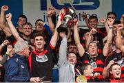7 October 2018; Ballygunner joint captain's Stephen O'Keeffe and Shane O'Sullivan lifts the cup after the Waterford County Senior Club Hurling Championship Final match between Abbeyside and Ballygunner at Fraher Field in Dungarvan, Co Waterford. Photo by Matt Browne/Sportsfile