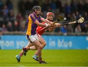 7 October 2018; Jamie Clinton of Kilmacud Crokes in action against David Treacy of Cuala during the Dublin County Senior Club Hurling Championship semi-final match between Kilmacud Crokes and Cuala at Parnell Park in Dublin. Photo by Daire Brennan/Sportsfile