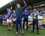 7 October 2018; Scotstown players and officials react during the final minutes of the Monaghan County Senior Club Football Championship Final match between Scotstown and Ballybay Pearse Brothers at St Tiernach's Park in Clones, Co Monaghan. Photo by Philip Fitzpatrick/Sportsfile