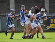 7 October 2018; Ballyboden St Enda's players, left to right, Dean Curran, James Madden, and Luke Corcoran in action against Thomas Connolly, left, and Alan Moore of St Vincent's during the Dublin County Senior Club Hurling Championship semi-final match between St Vincent's and Ballyboden St Enda's at Parnell Park in Dublin. Photo by Daire Brennan/Sportsfile