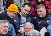 7 October 2018; Waterford manager Paraic Fanning, right, with his selectors, from left, James Murray and Pa Kearney during the Waterford County Senior Club Hurling Championship Final match between Abbeyside and Ballygunner at Fraher Field in Dungarvan, Co Waterford. Photo by Matt Browne/Sportsfile