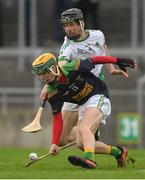 7 October 2018; Conor Lowry of Kilcormac/Killoughey in action against Stephen Burke of Coolderry during the Offaly County Senior Club Hurling Championship Final match between Coolderry and Kilcormac/Killoughey at Bord Na Móna O'Connor Park in Tullamore, Co Offaly. Photo by Piaras Ó Mídheach/Sportsfile