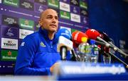8 October 2018; Backs coach Felipe Contepomi during a Leinster Rugby press conference at Leinster Rugby Headquarters in Dublin. Photo by Ramsey Cardy/Sportsfile