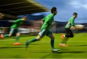 8 October 2018; Ronan Coughlan of Cork City warms-up prior to the Irish Daily Mail FAI Cup Semi-Final Replay match between Cork City and Bohemians at Turner's Cross in Cork. Photo by Seb Daly/Sportsfile