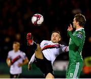 8 October 2018; Keith Ward of Bohemians in action against Kieran Sadlier of Cork City during the Irish Daily Mail FAI Cup Semi-Final Replay match between Cork City and Bohemians at Turner's Cross in Cork. Photo by Seb Daly/Sportsfile