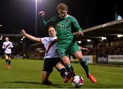 8 October 2018; Kieran Sadlier of Cork City in action against Derek Pender of Bohemians during the Irish Daily Mail FAI Cup Semi-Final Replay match between Cork City and Bohemians at Turner's Cross in Cork. Photo by Seb Daly/Sportsfile