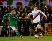 8 October 2018; Danny Grant of Bohemians in action against Kieran Sadlier of Cork City during the Irish Daily Mail FAI Cup Semi-Final Replay match between Cork City and Bohemians at Turner's Cross in Cork. Photo by Seb Daly/Sportsfile